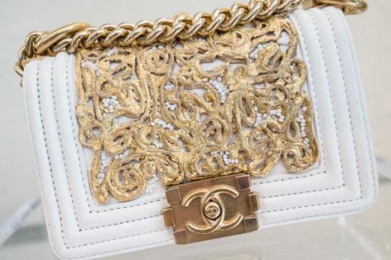 Chanel Boy Bag White White Gold Boy Chain Chanel